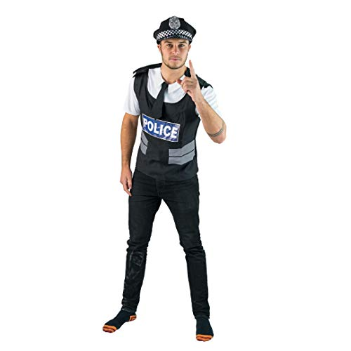 Police Officer Of the Law Fancy Dress Costume.