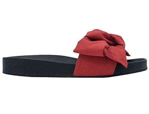 MaxMuxun Chaussures Femme Sandales Plats EU 36-41 Rouge