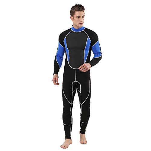 LOPILY Herren 3MM Ganzkörperanzug Wetsuit Neoprenanzug Schwimmen Surfen Tauchen Sport Badeanzug Schnorchelanzug Surfbekleidung Schnelltrocknend Taucheranzug(Blau,M)
