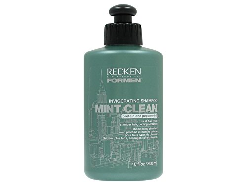 Redken Invigorating Mint Clean Shampoo for Men Hair Care for Strong Hair 300 ml