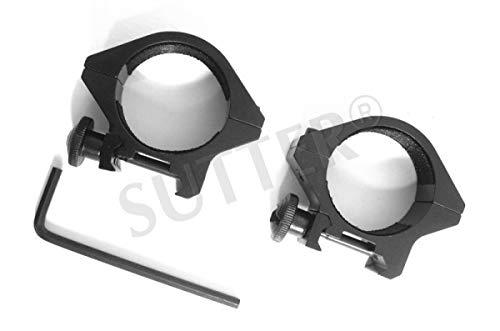 SUTTER Zielfernrohrmontage Montageringe/Durchmesser: 30mm, Höhe: 40mm / für Weaver- und Picatinny-Schienen/für Zielfernrohr RedDot Zielvisier (Zielfernrohrmontagen Stück Einem)