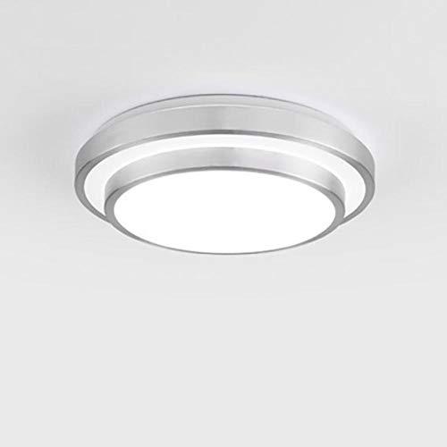 JIUMENG Moderna Ultra Delgado Impermeable Blanco Natural LED Plafón para Baño Dormitorio...