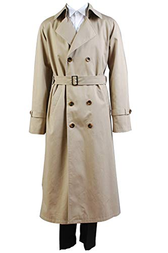 Supernatural Castiel Twill Trench mantel Cosplay Kostüm XL -