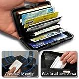 Tarjetero de aluminio para tarjetas de crédito, resistente a los impactos