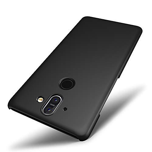 Custodia Nokia 8 Sirocco, SLEO Cover Nokia 8 Sirocco [Protezione a 360 Gradi] Thin Fit, [Cover Sottile & Robusto] Rivestimento Soft-Feel, Ultra Leggero Protetto PC Duro Case per Nokia 8 Sirocco - Nero