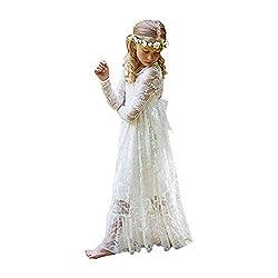 XEJ Kleid Spitze Blumenmädchen