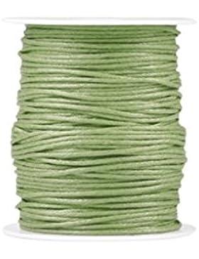 Zacoo Gewachste Baumwolle Schnur Draht Fäden 80m Hell Grün 1.5mm
