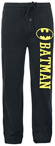 Batman Logo Pyjama-Hose schwarz XL (Batman Pyjama-hose)