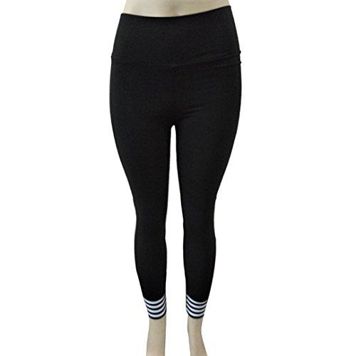 donne alta vita sportiva palestra yoga esecuzione fitness Leggings Pantaloni allenamento vestiti donne Power Yoga pantaloni allenamento in esecuzione leggings Morwind Nero