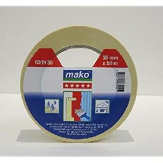 mako Klebeband Krepp-Abdeckband Malerklebeband 50 m gelb 38 mm Breite