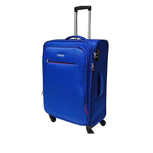 American Tourister 89726-1971 bolsa de equipaje Tranvía Negro, Azul Poliéster - Bolsa de viaje (Tranvía, Negro, Azul, Poliéster, 4 rueda(s), Cremallera, 1 pieza(s))