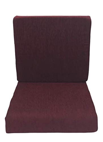 AI Sleepwell by Sheela Group , an ISO Certified Company Sofa Foam Cushions with Cover (Maroon, 40 Density Seat)