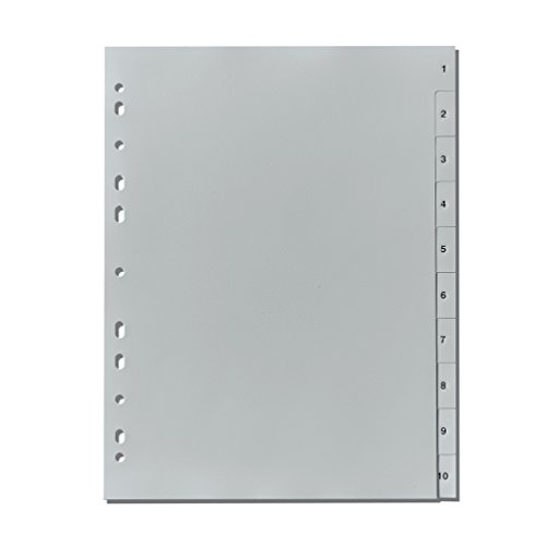 Herlitz 10841252 Register 1-10, 23 x 29,7 cm, PP mit Eurolochung