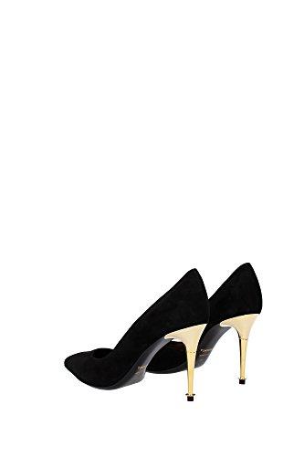 115W1292TSUEBLK Tom Ford Talon Femme Chamois Noir Noir