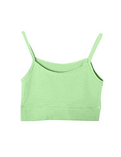 Bestgift Femme Coton Soutien-gorge de sporte Vert
