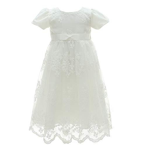 Exklusives Brautkleid (Monimo Baby Mädchen Taufbekleidung Kleid 2PCS Prinzessin Bow Festkleidkleid Länge bis zum Boden)