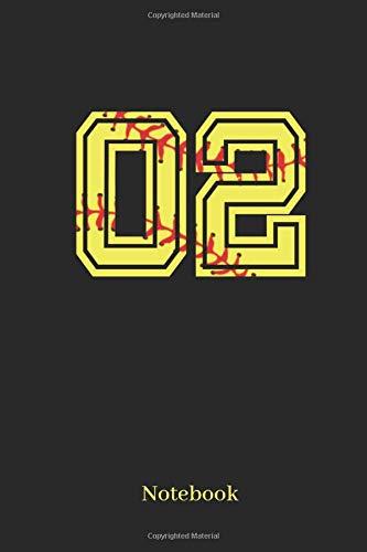 02 Notebook: Softball Player Jersey Number 02 Sports Notebook por Sporty Girl