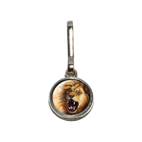 Lion Roar–Big Cat safari in Charme Kleidung Handtasche Gepäck Rucksack Reißverschluss (Gepäck Charme)