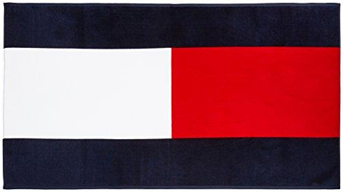 Preisvergleich Produktbild Tommy Hilfiger Herren Badehandtuch Flag Towel , navy blazer-pt/ multi (navy blazer-pt/ multi), größe OS