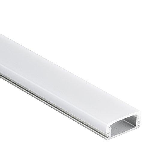 Profilo Han in alluminio per Strisce LED 2m + Copertura Opale