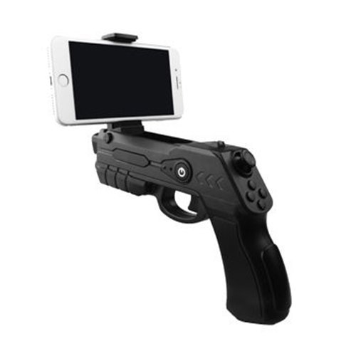 d9c77a71179c Xplorer Blaster Augmented Reality AR Game Gun with Bluetooth for IOS and  Android Smartphones (Black