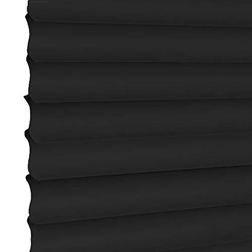 Persiane tende veneziane orizzontali in pvc nero, schermanti di buona qualità con cordoncino, ideali per l'ufficio della camera da letto del soggiorno, facili da installare