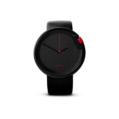 Armbanduhr STRYVE Watch Athletic, Minimalistische Uhr, Schlichte Uhr, Designer Armband Uhr, schwarz, schwarz