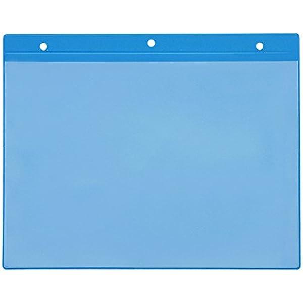 Magnettaschen Kennzeichnungstasche mit 2 Magnetstreifen Blau Einstecktasche