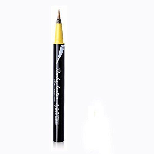 Eyeliner-Liquid,Eyeliner Pen Maquillage Cosmétique,,Eyeliner Waterproof,PowerFul-LOT Beauté Noir Étanche Eyeliner Liquide Eye Liner Stylo Crayon Maquillage Cosmétique Nouveau (Golden)