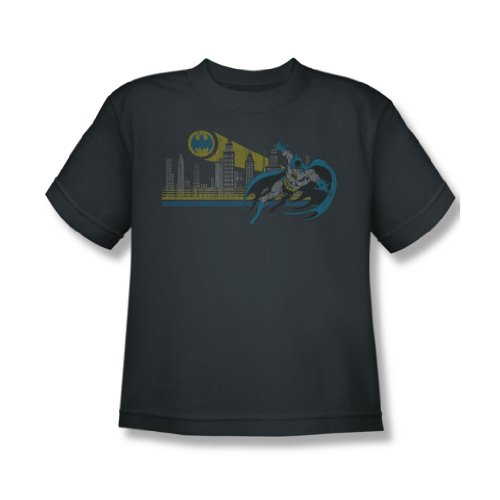 Dc Comics - Gotham Retro Youth T-Shirt in der Holzkohle Charcoal