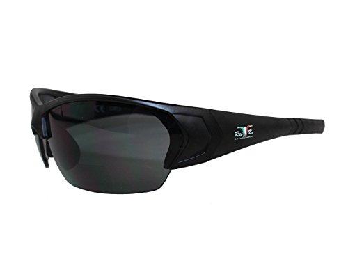 Raiko Sportswear RSB2 mit 2.5 Dioptren Radbrille, schwarz matt, One Size