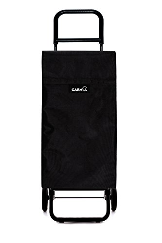 GARMOL 10010 G2 Travel C701 Poussette de Marché 2 Roues, Tissu, Noir, 39 x 30 x 102 cm