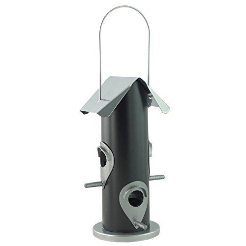 Schwere Pflicht Aufhängen Metall Futterhaus, schwarz, 14 X 25 cm (Vögel Feeder Pole)