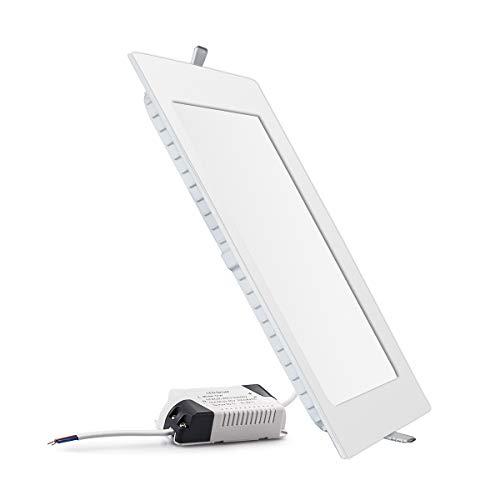 Fonyun Flach LED Panel Licht, superdünn LED Panel Einbauleuchte für Home/Office/Gewerbliche Beleuchtung, Day Light, Square 18W 18.00 watts (Square Einbauleuchte Light)