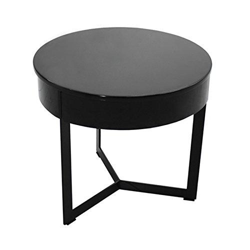 designement Wesley Table de Nuit Bois, Laqué Gris, 45 x 45 x 40 cm