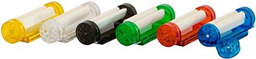 4-in-1 Zigaretten Drehmaschine / Jointroller mit Grinder, Tabakdose und Blättchenhalter (für 70 cm Blättchen) inkl. Hanfblatt-Anhänger (rot)