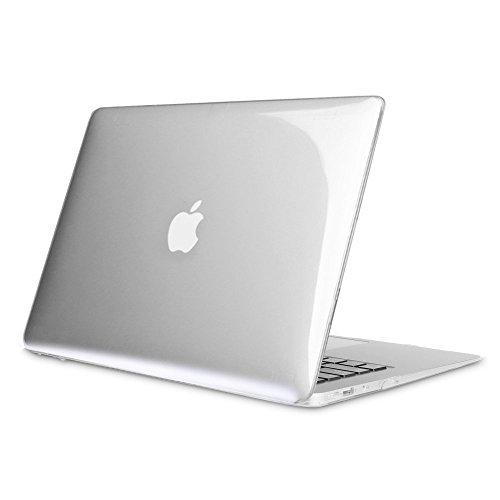 Fintie Funda para MacBook Air 13 - Súper Delgada Carcasa Protectora de Plástico Duro para Apple MacBook Air 13.3' Modelo A1466 / A1369, Claro Transparente