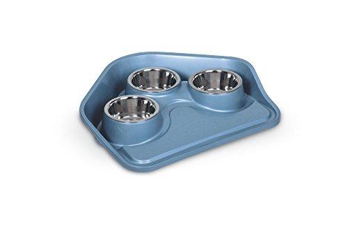 Vassioio ciotole per cani e gatti completo di 3 ciotole modello try vip cm.49x40x8h