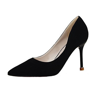 Moda Donna Sandali Sexy donna tacchi tacchi Estate Felpa casual Stiletto Heel altri nero / rosa / viola / rosso / grigio chiaro / Mandorla Altri gray