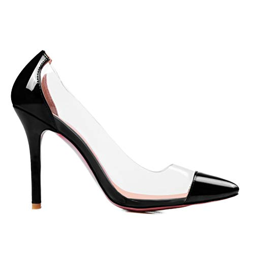 Frauen-hohe Ferse transparente Spitze Zehe pumpt freie Hochzeits-Kleid-Gericht-Schuhe -