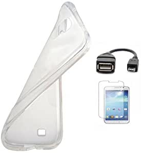 Winchip Totu Back Cover For Samsung Galaxy Win i8552 With Screen Guard & Micro Otg Cable-Transparent