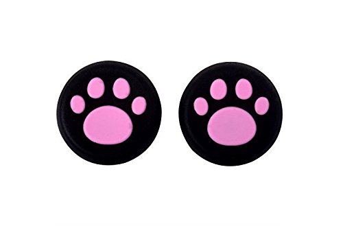Price comparison product image Doyime Pack of 4 Silicone Cap Thumb Stick Joystick Grip Cover For Sony PS4 PS3 Xbox 360 Xbox one Controller wireless-Pink