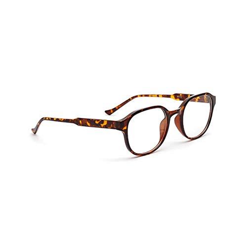 ZRTYJ Sonnenbrille Quadrat Frauen/Männer Brillengestell Vintage Retro Plain Brillen Schwarz Klar Objektiv Shades Brillen