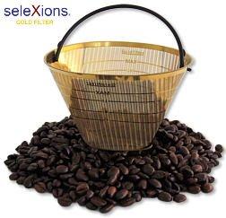 Kaffeefilter Goldfilter Ganzmetall SeleXions GF4M für alle Kaffeemaschinen mit rundem Filter...