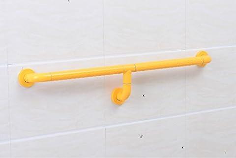 SAEJJ-barrier free barre - tuyau galvanisé couche double double bar toilettes anticollision safety.,le jaune