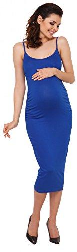 Zeta Ville Robe grossesse bretelles près du corps encolure dégagée - femme 809c Bleu Royal