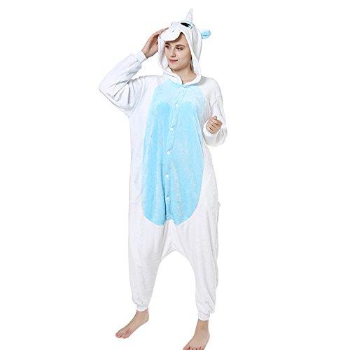 Lisli Erwachsene Karton Kostüm Tier Einteiler Onesie Anzug Jumpsuit Pyjama Schlafanzug Unisex, Einhorn, Für ()