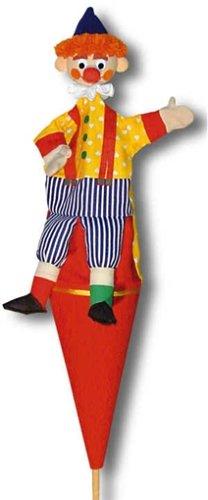 Trullala 12064 - Clown gelb, Tütenkaspar mit Beinen