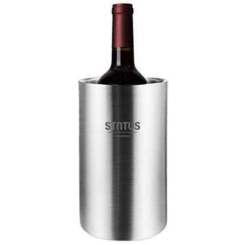 Weinflaschen-Eimer, Edelstahl, doppelwandig, für Weißweinflaschen, Kühleimer für Champagner, Bier und Eiswürfel