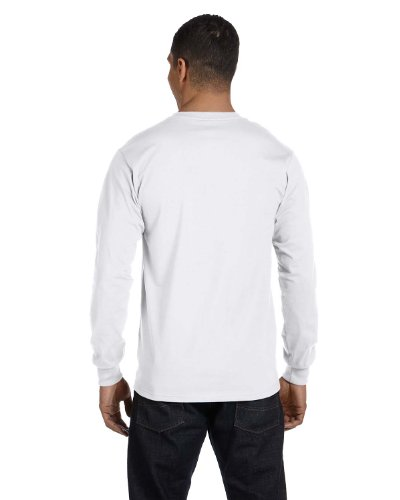 Hanes Tagless Long-Sleeve T-Shirt (Set of 2) White / Deep Forest